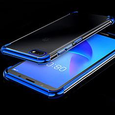 Funda Silicona Ultrafina Carcasa Transparente H01 para Huawei Enjoy 8e Lite Azul