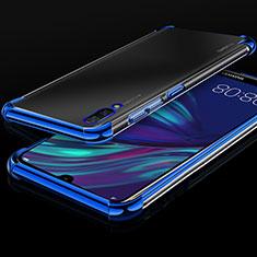 Funda Silicona Ultrafina Carcasa Transparente H01 para Huawei Enjoy 9 Azul