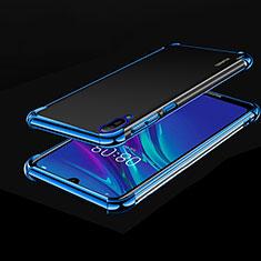 Funda Silicona Ultrafina Carcasa Transparente H01 para Huawei Enjoy 9e Azul
