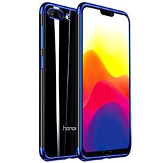 Funda Silicona Ultrafina Carcasa Transparente H01 para Huawei Honor 10 Azul