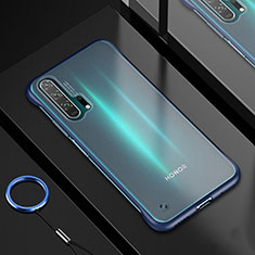 Funda Silicona Ultrafina Carcasa Transparente H01 para Huawei Honor 20 Pro Azul