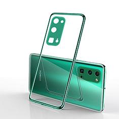 Funda Silicona Ultrafina Carcasa Transparente H01 para Huawei Honor 30 Pro Verde