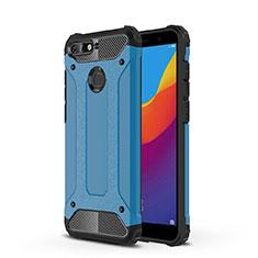 Funda Silicona Ultrafina Carcasa Transparente H01 para Huawei Honor 7A Azul