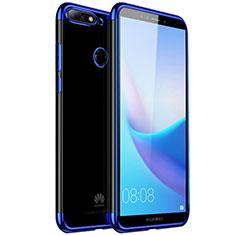 Funda Silicona Ultrafina Carcasa Transparente H01 para Huawei Honor 7C Azul