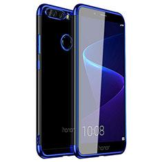 Funda Silicona Ultrafina Carcasa Transparente H01 para Huawei Honor 8 Pro Azul
