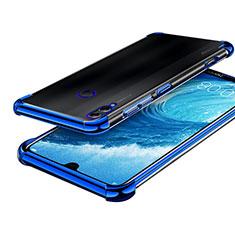 Funda Silicona Ultrafina Carcasa Transparente H01 para Huawei Honor 8X Max Azul