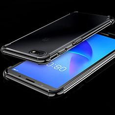 Funda Silicona Ultrafina Carcasa Transparente H01 para Huawei Honor Play 7 Negro