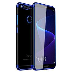 Funda Silicona Ultrafina Carcasa Transparente H01 para Huawei Honor Play 7X Azul