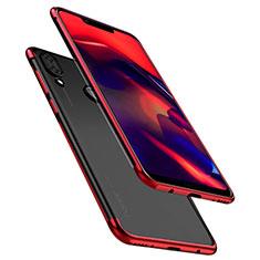 Funda Silicona Ultrafina Carcasa Transparente H01 para Huawei Honor Play Rojo