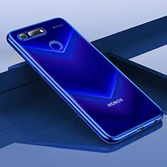 Funda Silicona Ultrafina Carcasa Transparente H01 para Huawei Honor V20 Azul