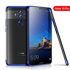 Funda Silicona Ultrafina Carcasa Transparente H01 para Huawei Mate 10 Pro Azul