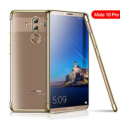 Funda Silicona Ultrafina Carcasa Transparente H01 para Huawei Mate 10 Pro Oro