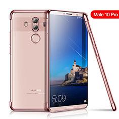 Funda Silicona Ultrafina Carcasa Transparente H01 para Huawei Mate 10 Pro Oro Rosa