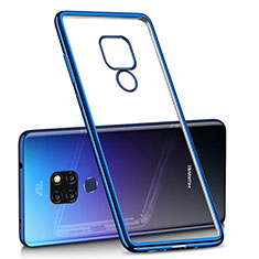 Funda Silicona Ultrafina Carcasa Transparente H01 para Huawei Mate 20 Azul