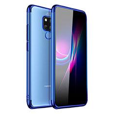 Funda Silicona Ultrafina Carcasa Transparente H01 para Huawei Mate 20 X Azul