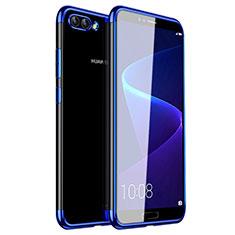 Funda Silicona Ultrafina Carcasa Transparente H01 para Huawei Nova 2S Azul