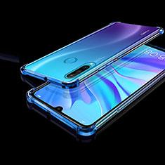 Funda Silicona Ultrafina Carcasa Transparente H01 para Huawei Nova 4e Azul