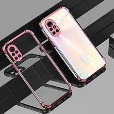 Funda Silicona Ultrafina Carcasa Transparente H01 para Huawei Nova 8 5G Oro Rosa