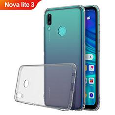 Funda Silicona Ultrafina Carcasa Transparente H01 para Huawei Nova Lite 3 Gris