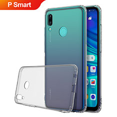 Funda Silicona Ultrafina Carcasa Transparente H01 para Huawei P Smart (2019) Gris