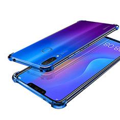 Funda Silicona Ultrafina Carcasa Transparente H01 para Huawei P Smart+ Plus Azul