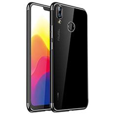 Funda Silicona Ultrafina Carcasa Transparente H01 para Huawei P20 Lite Negro