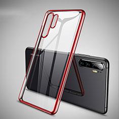 Funda Silicona Ultrafina Carcasa Transparente H01 para Huawei P30 Pro Rojo
