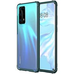 Funda Silicona Ultrafina Carcasa Transparente H01 para Huawei P40 Pro+ Plus Verde