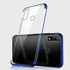 Funda Silicona Ultrafina Carcasa Transparente H01 para Huawei Y8s Azul