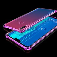 Funda Silicona Ultrafina Carcasa Transparente H01 para Huawei Y9 (2019) Morado