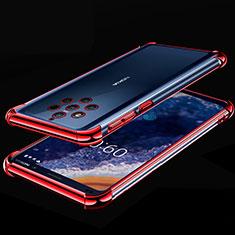 Funda Silicona Ultrafina Carcasa Transparente H01 para Nokia 9 PureView Rojo