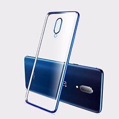Funda Silicona Ultrafina Carcasa Transparente H01 para OnePlus 7 Azul