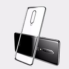 Funda Silicona Ultrafina Carcasa Transparente H01 para OnePlus 7 Negro