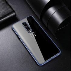 Funda Silicona Ultrafina Carcasa Transparente H01 para OnePlus 7 Pro Azul