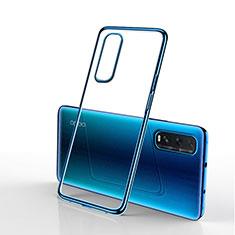 Funda Silicona Ultrafina Carcasa Transparente H01 para Oppo Find X2 Azul