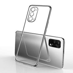 Funda Silicona Ultrafina Carcasa Transparente H01 para Oppo K7x 5G Negro