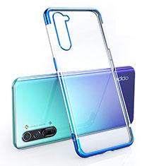 Funda Silicona Ultrafina Carcasa Transparente H01 para Oppo Reno3 Azul