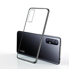 Funda Silicona Ultrafina Carcasa Transparente H01 para Oppo Reno3 Pro Negro
