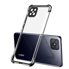 Funda Silicona Ultrafina Carcasa Transparente H01 para Oppo Reno4 Z 5G Negro