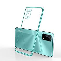 Funda Silicona Ultrafina Carcasa Transparente H01 para Realme V5 5G Verde