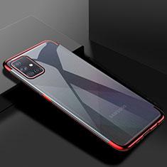 Funda Silicona Ultrafina Carcasa Transparente H01 para Samsung Galaxy A51 5G Rojo