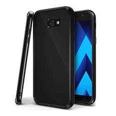 Funda Silicona Ultrafina Carcasa Transparente H01 para Samsung Galaxy A7 (2017) A720F Negro