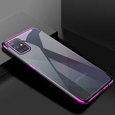 Funda Silicona Ultrafina Carcasa Transparente H01 para Samsung Galaxy A71 5G Morado