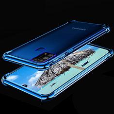 Funda Silicona Ultrafina Carcasa Transparente H01 para Samsung Galaxy M21s Azul