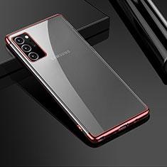 Funda Silicona Ultrafina Carcasa Transparente H01 para Samsung Galaxy Note 20 Ultra 5G Oro Rosa