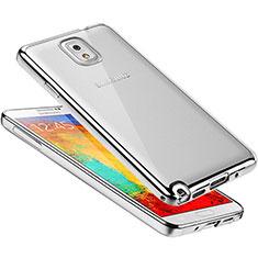 Funda Silicona Ultrafina Carcasa Transparente H01 para Samsung Galaxy Note 3 N9000 Plata
