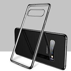 Funda Silicona Ultrafina Carcasa Transparente H01 para Samsung Galaxy S10 5G Negro