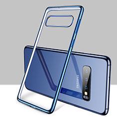 Funda Silicona Ultrafina Carcasa Transparente H01 para Samsung Galaxy S10 Plus Azul
