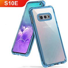 Funda Silicona Ultrafina Carcasa Transparente H01 para Samsung Galaxy S10e Azul Cielo