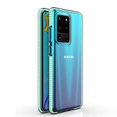 Funda Silicona Ultrafina Carcasa Transparente H01 para Samsung Galaxy S20 Ultra 5G Cian